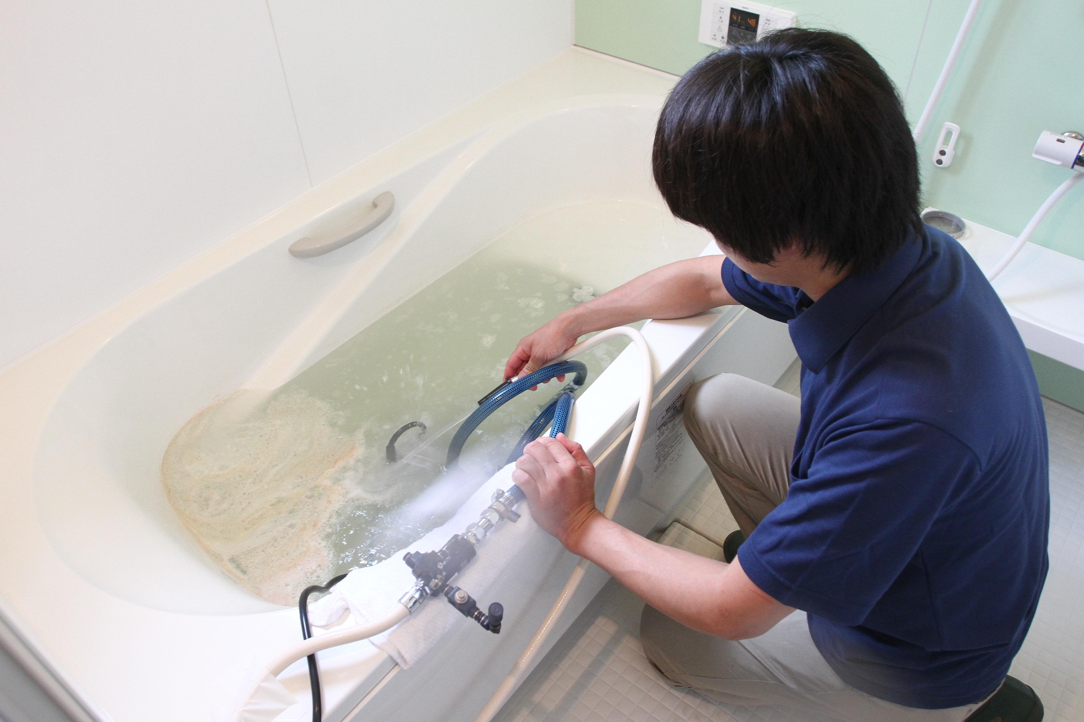 風呂釜洗浄写真